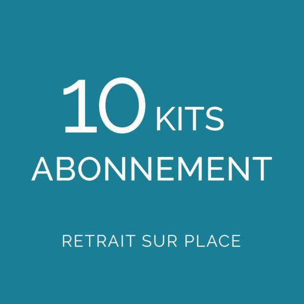 Abonnement 10 kits Retrait sur place