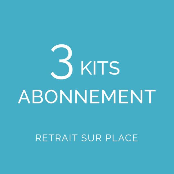 Abonnement 3 kits Retrait sur place