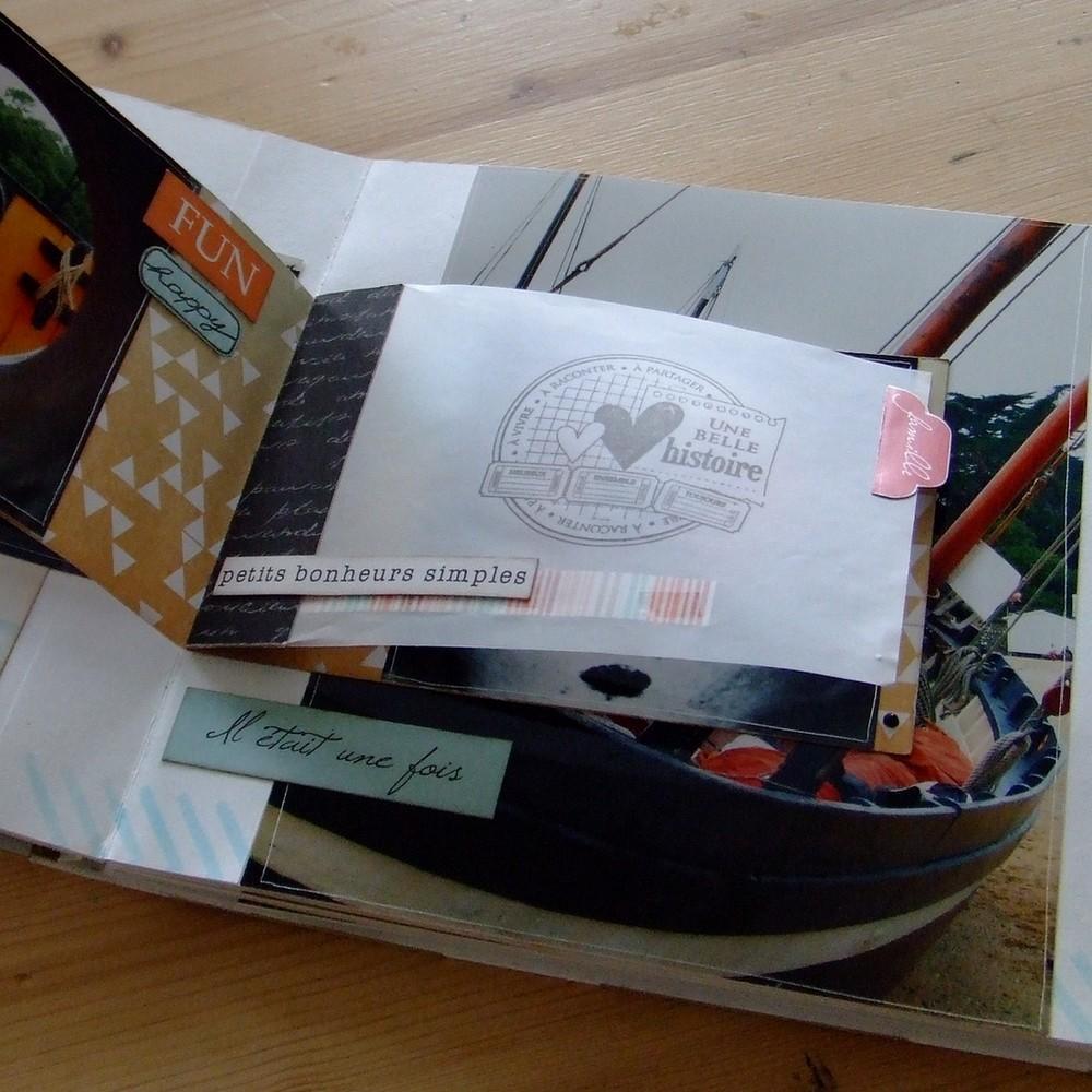 Tutoriel mini-album En reportage mini-album scrap scrapbooking couleurs-en-folie mariage naissance voyage photographie clichés souvenirs photo encres pochoirs tampons papier-aquarelle