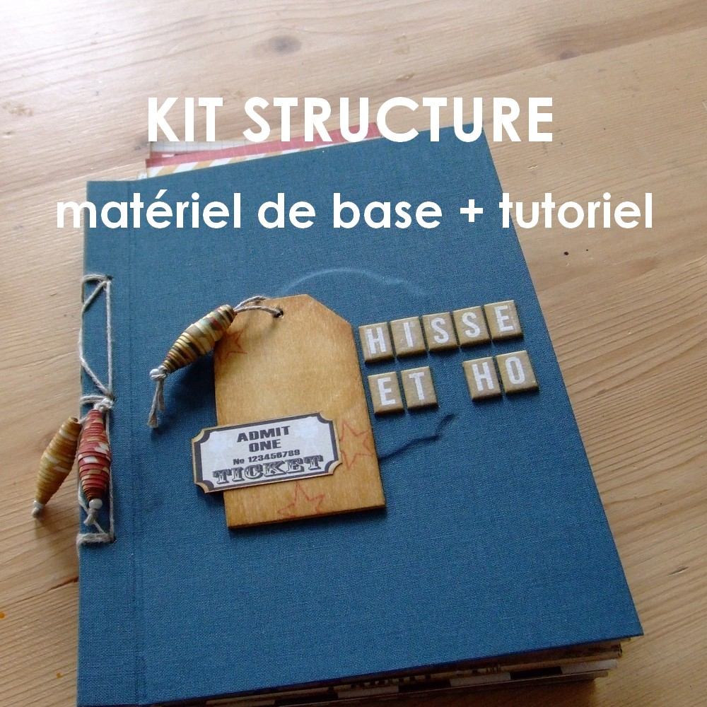 Kit structure Hisse et Ho mini-album scrapbooking scrap couleurs-en-folie kit shabby vintage