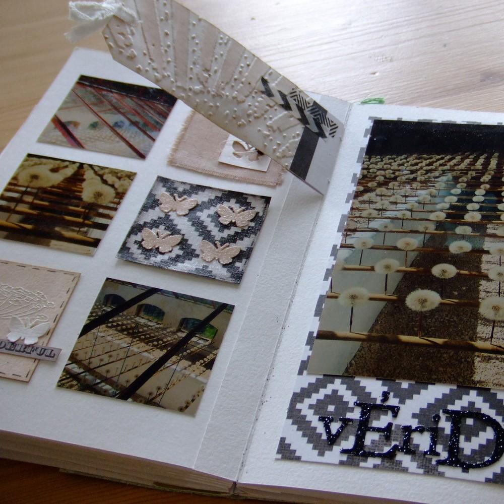 Kit structure Du graphisme... scrapbooking scrap Couleurs-en-folie encres tampons doodling aquarelle tuto mini-albums album photos naissance mariage voyage