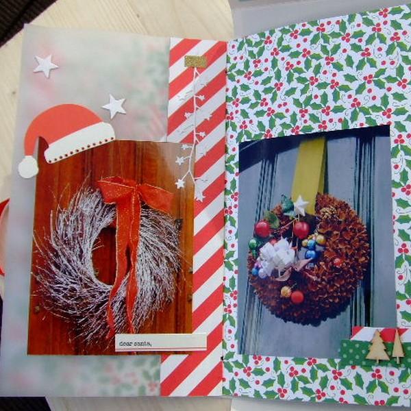 Tutoriel mini-album Magie de Noël 3 scrapbooking scrap Couleurs-en-folie tuto mini-albums album photos cadeau anniversaire naissance mariage noël