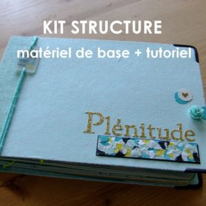 Kit structure Plénitude bleu mini-album mini-classeur album photo mini-albums kits Couleurs en Folie scrap scrapbooking tuto tutoriel