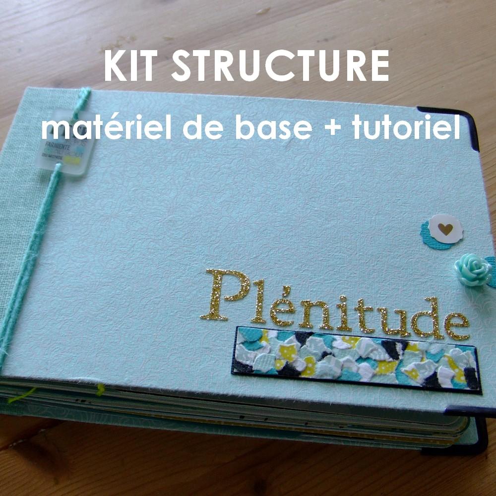 Kit structure Plénitude bleu mini-album mini-classeur album photo mini-albums kits Couleurs en Folie scrap scrapbooking tuto tutoriel