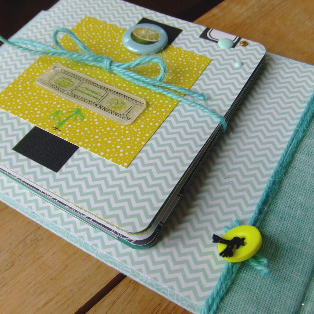 Tutoriel mini-album Plénitude petit carnet classeur photos couleurs-en-folie isabelle-lafolie ateliers kits mini-albums