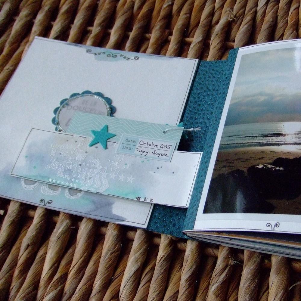 Tutoriel mini-album Bonheur en famille 1 scrapbooking scrap Couleurs-en-folie aquarelle crème de wepam pochoirs tuto