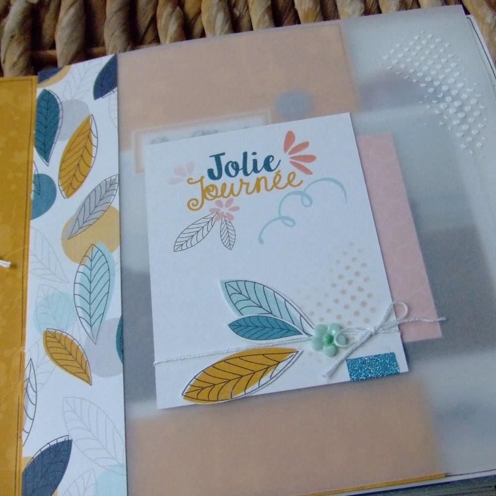 Tutoriel mini-album Bonheur en famille 3 scrapbooking scrap Couleurs-en-folie aquarelle crème de wepam pochoirs tuto