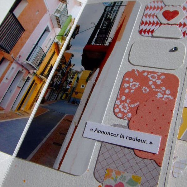 Tutoriel mini-album Souvenirs en couleurs 2 scrapbooking scrap Couleurs-en-folie encres couleurs tuto mini-albums album photos enfants vacances voyage