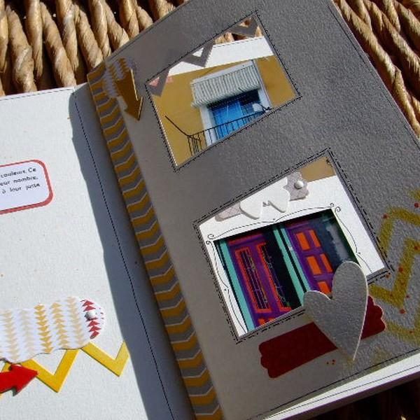 Tutoriel mini-album Souvenirs en couleurs 6 scrapbooking scrap Couleurs-en-folie encres couleurs tuto mini-albums album photos enfants vacances voyage