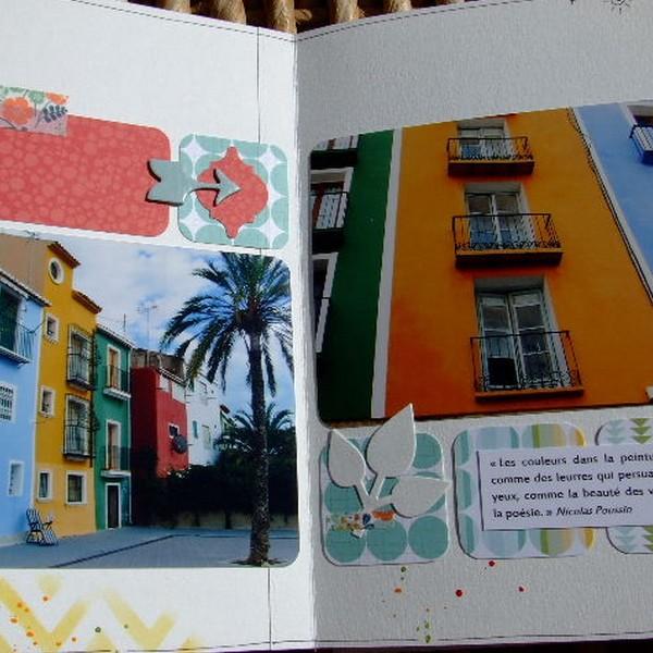 Tutoriel mini-album Souvenirs en couleurs 7 scrapbooking scrap Couleurs-en-folie encres couleurs tuto mini-albums album photos enfants vacances voyage