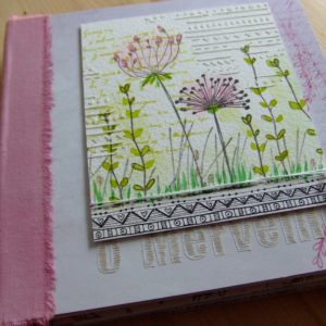 Tutoriel mini-album Ô Merveille mini-album scrap scrapbooking kits couleurs-en-folie tuto tutoriel scrap-plaisir encres tampons nature aquarelle isabelle-lafolie