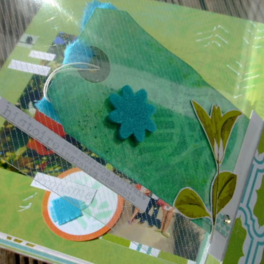 Kit structure La grande bleue 5 mini-album livre album photo mini-albums kits Couleurs en Folie scrap scrapbooking tuto tutoriel
