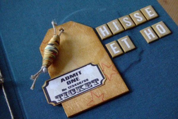 Projet pour le kit structure Hisse et Ho mini-album scrap scrapbooking kits couleurs-en-folie kit-structure shabby cocooning