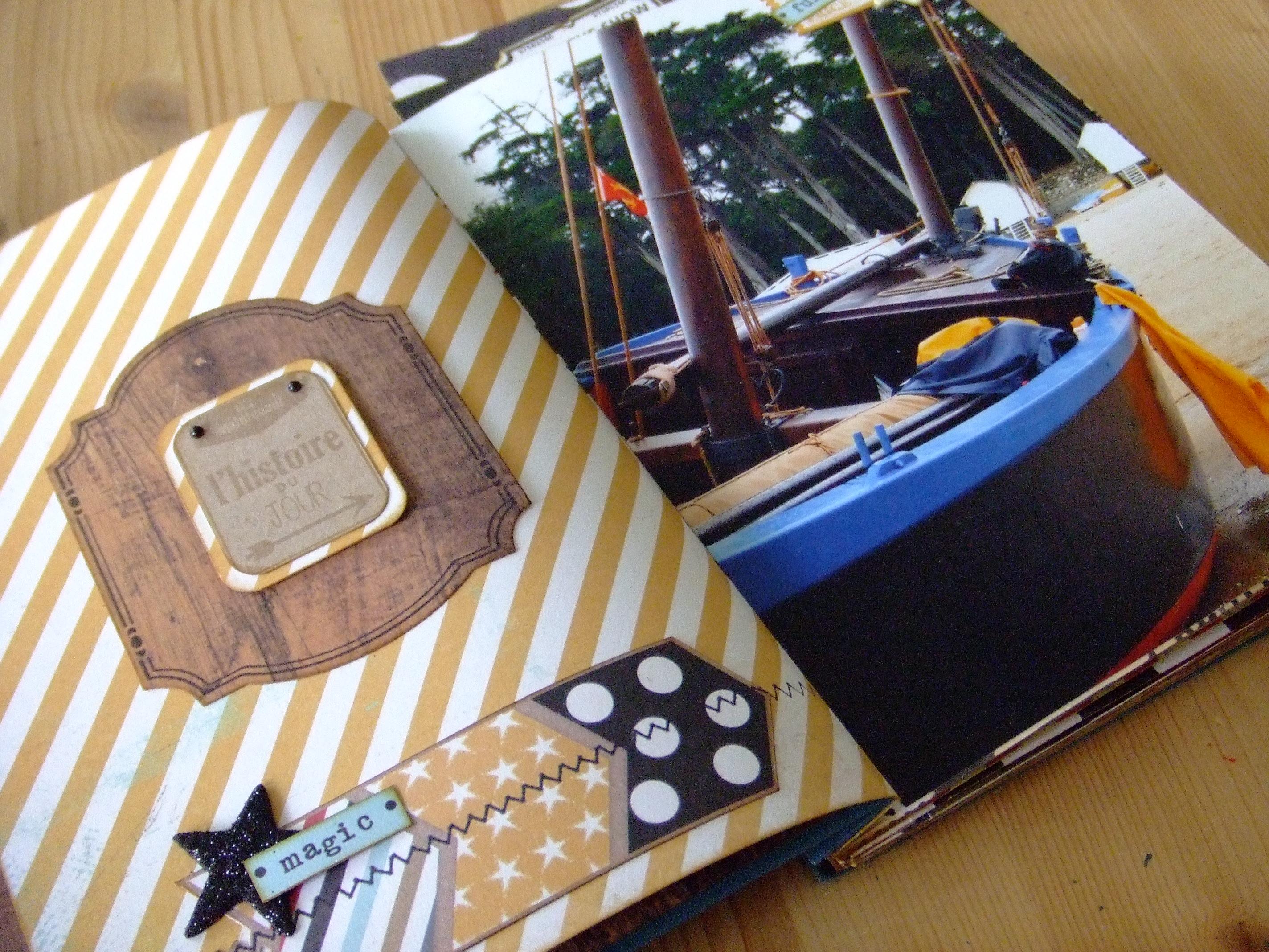 Projet pour le kit structure Hisse et Ho mini-album scrap scrapbooking kits couleurs-en-folie kit-structure shabby