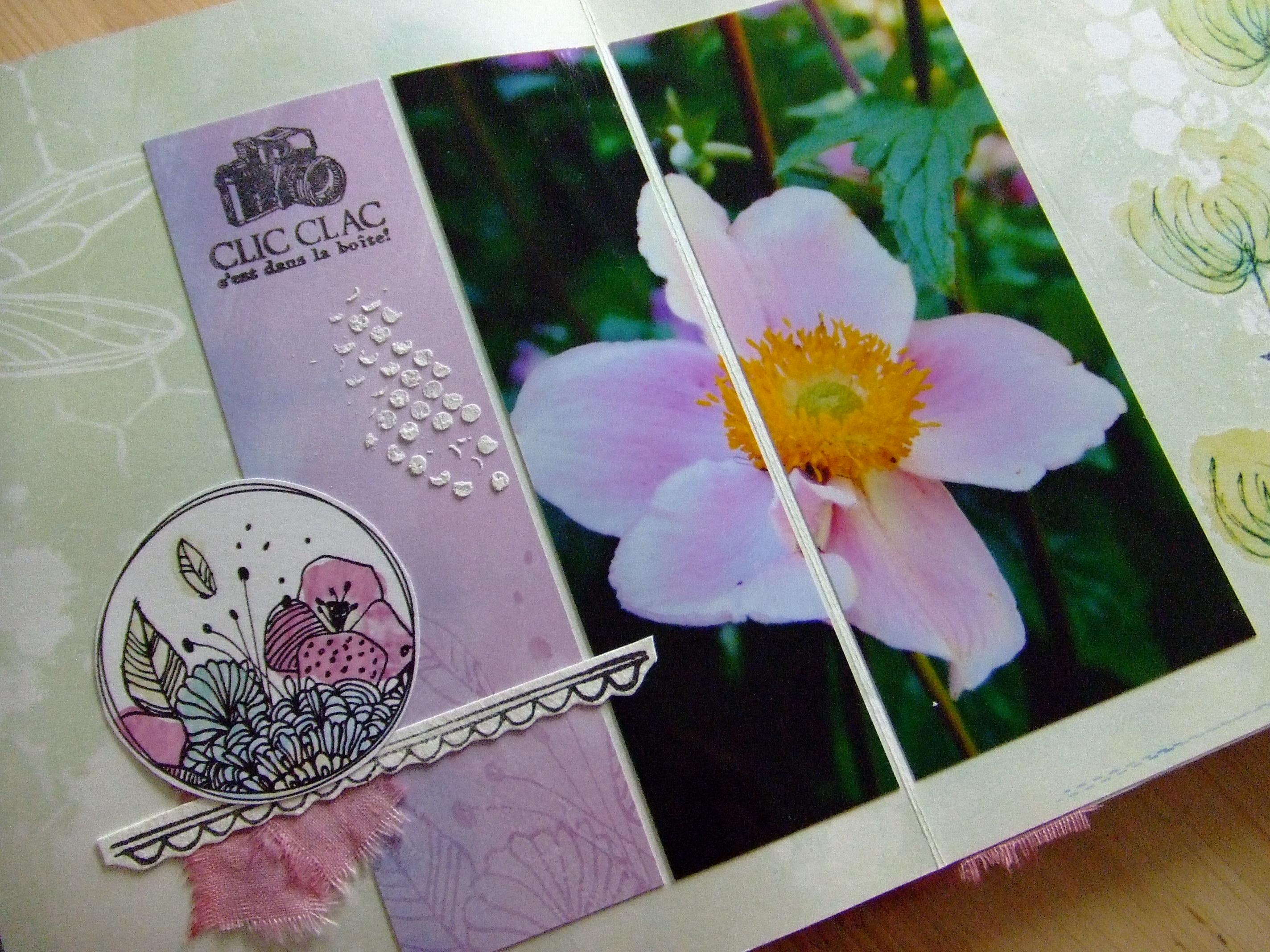 Vente en kit Ô Merveille mini-album scrap scrapbooking kits couleurs-en-folie tuto tutoriel scrap-plaisir encres tampons nature aquarelle isabelle-lafolie