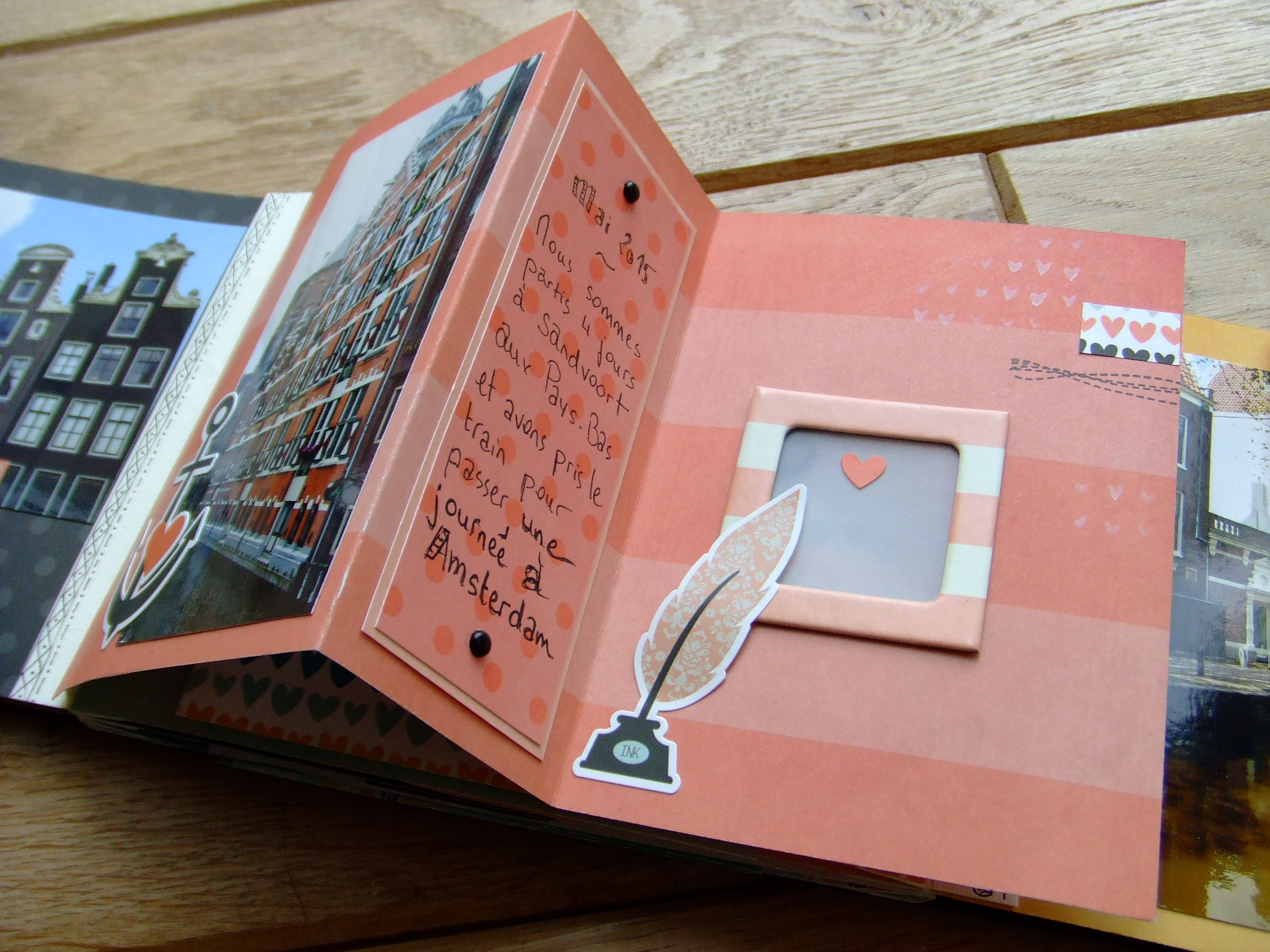 Projet d'atelier Loving This mini-album scrap scrapbooking tuto tutoriel