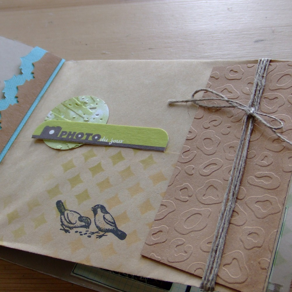Kit structure Havre de Paix scrap scrapbooking mini-album couleurs-en-folie kit aquarelle nature cuir métal