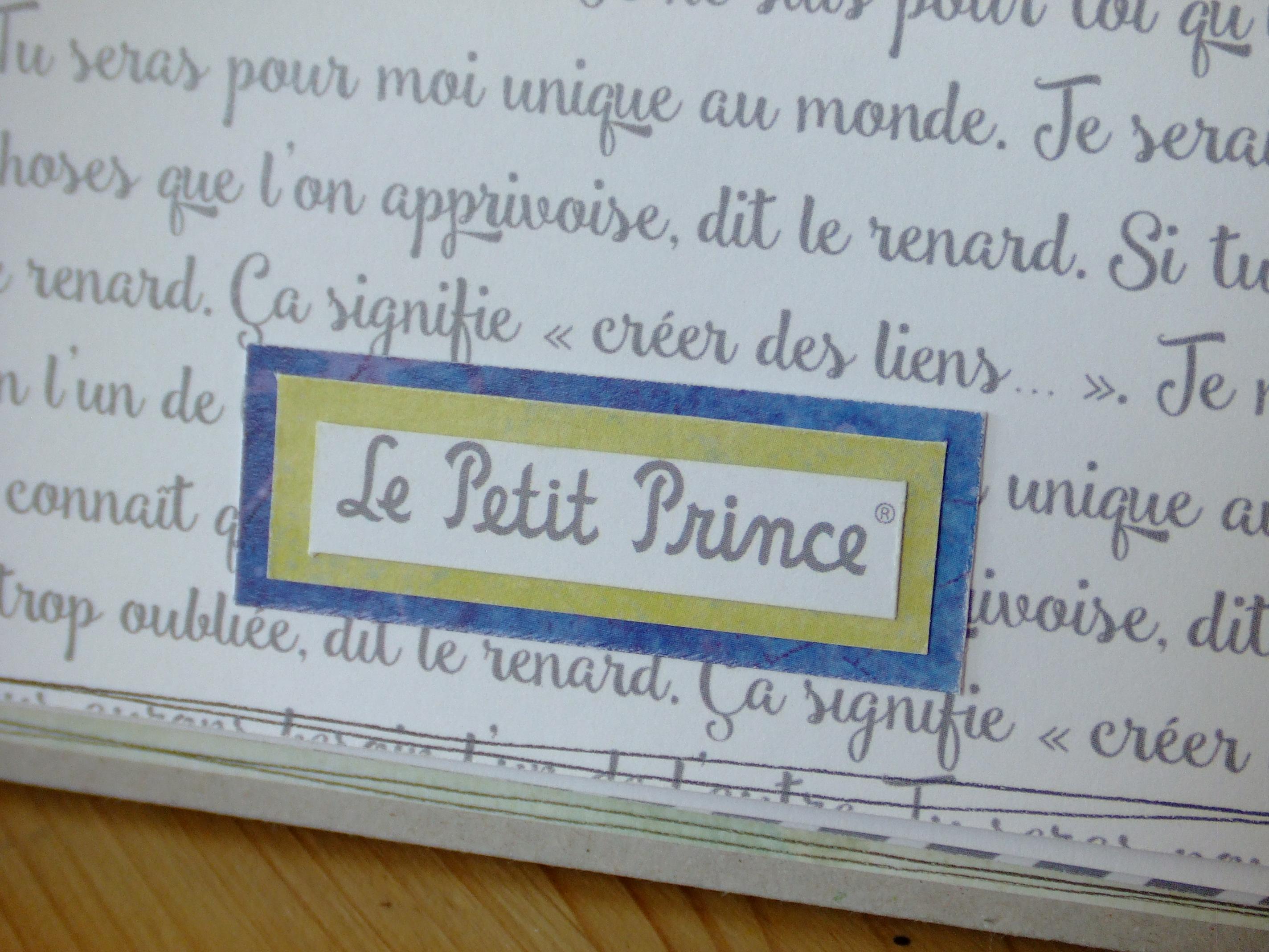 Atelier Scrap Plaisir calendrier perpétuel anniversaires collection Le petit prince couleurs-en-folie scrap scrapbooking isabelle-lafolie lille marcq-en-baroeul atelier-démo-à-domicile