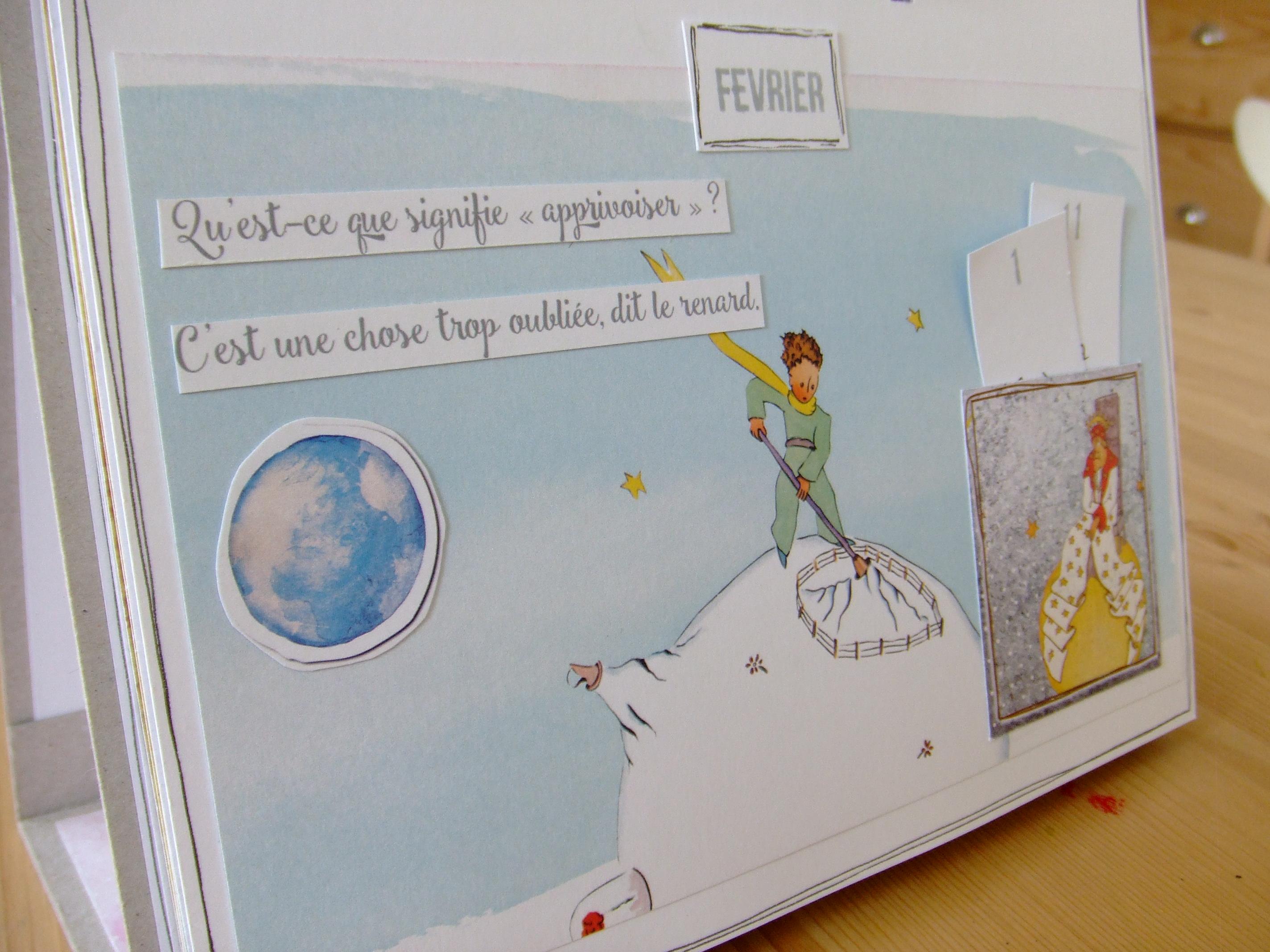 Calendrier Scrapbooking.Atelier Scrap Plaisir Calendrier Perpetuel Le Petit Prince