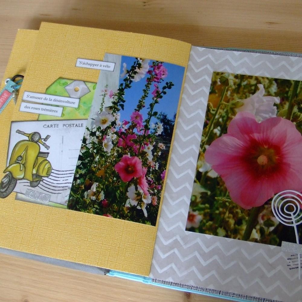 Tutoriel mini-album La Dolce Vita couleurs-en-folie kits mini-albums scrap scrapbooking road-book carnet-de-voyage atelier stage lille marcq-en-baroeul photos-de-vacances tutoriel tuto