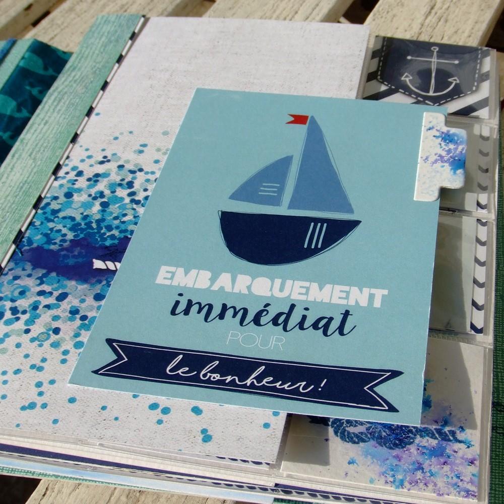 Extrêmement Tutoriel mini-album Bord de Mer pour un projet d'assez grande taille. MI74
