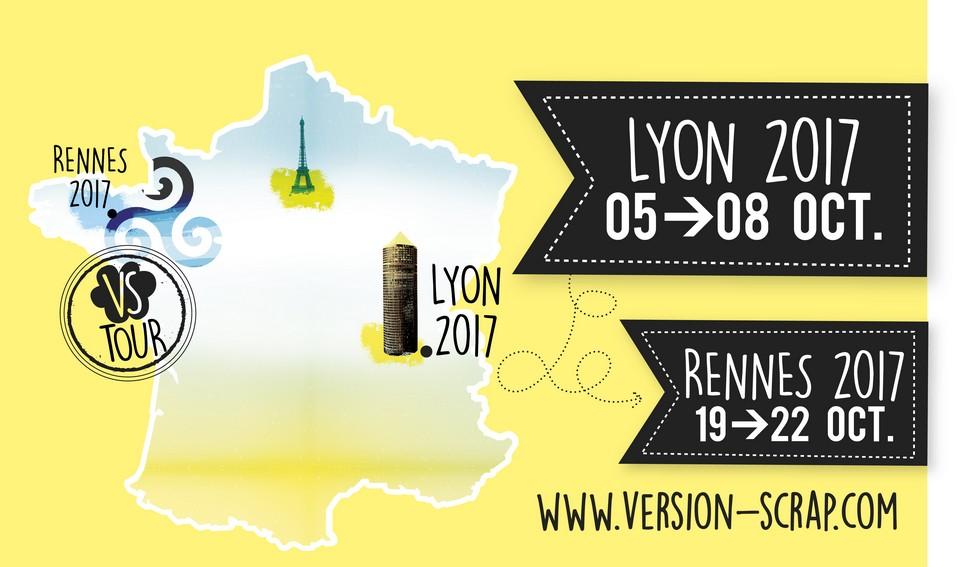 Salon VS Tour Rennes 2017 Version Scrap scrap scrapbooking loisirs créatifs les-kits-de-couleurs-en-folie les-ateliers-de-couleurs-en-folie couleurs-en-folie kits scrap mini-albums salon Rennes du-19-au-22-octobre-2017