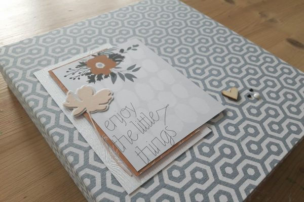 Vente en kit du mini-album Enjoy the little things les kits de couleursenfolie kits mini-albums scrap scrapbooking collection-de-papiers-Kesi'Art
