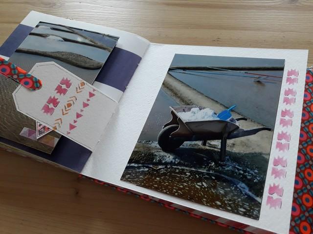 Vente en kit du mini-album Carnet de couleurs scrap scrapbooking kit kits les-kits-de-couleurs-en-folie couleurs-en-folie ateliers marcq-en-baroeul lille isabelle-lafolie mini-albums
