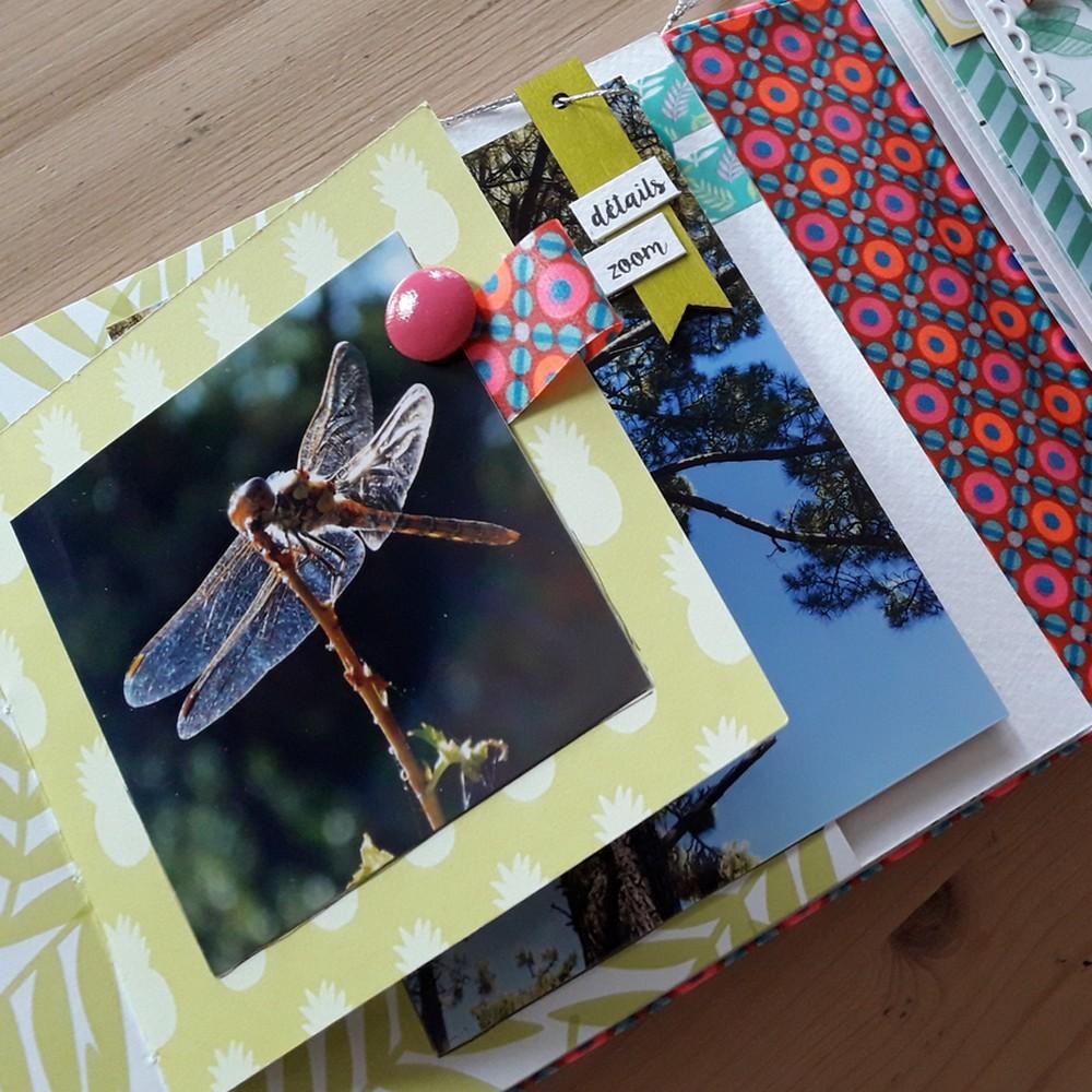 tutoriel mini-album carnet de couleurs scrap scrapbooking kits mini-albums couleurs-en-folie isabelle-lafolie marcq-en-baroeul ateliers pochoirs tampons encres couleurs