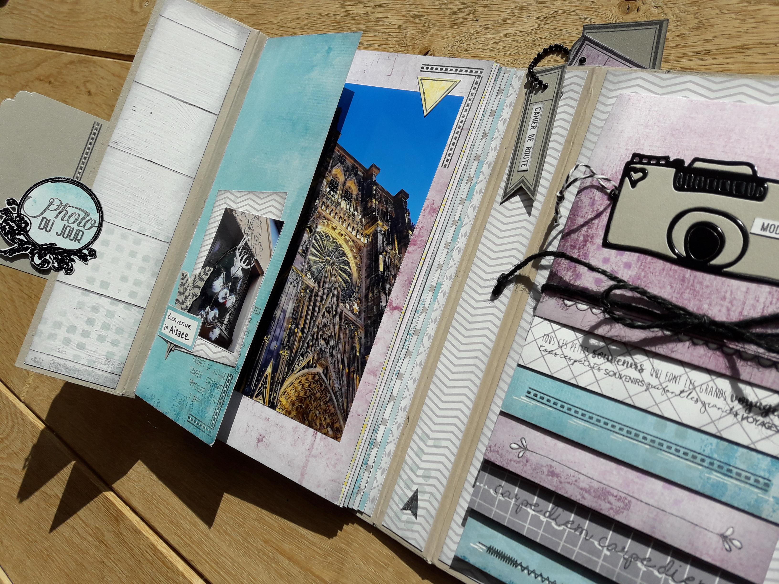 kit mini-album Découvertes Couleurs-en-Folie kits scrap scrapbooking atelier crop encres tampons Scrap-Plaisir Pepsy-Design Basicolor-Hivernal mini-album photos lille marcq-en-baroeul