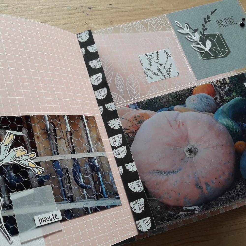 kit mini-album Enjoy the little things Couleurs-en-Folie kits scrap scrapbooking atelier tampons mini-album photos lille marcq-en-baroeul