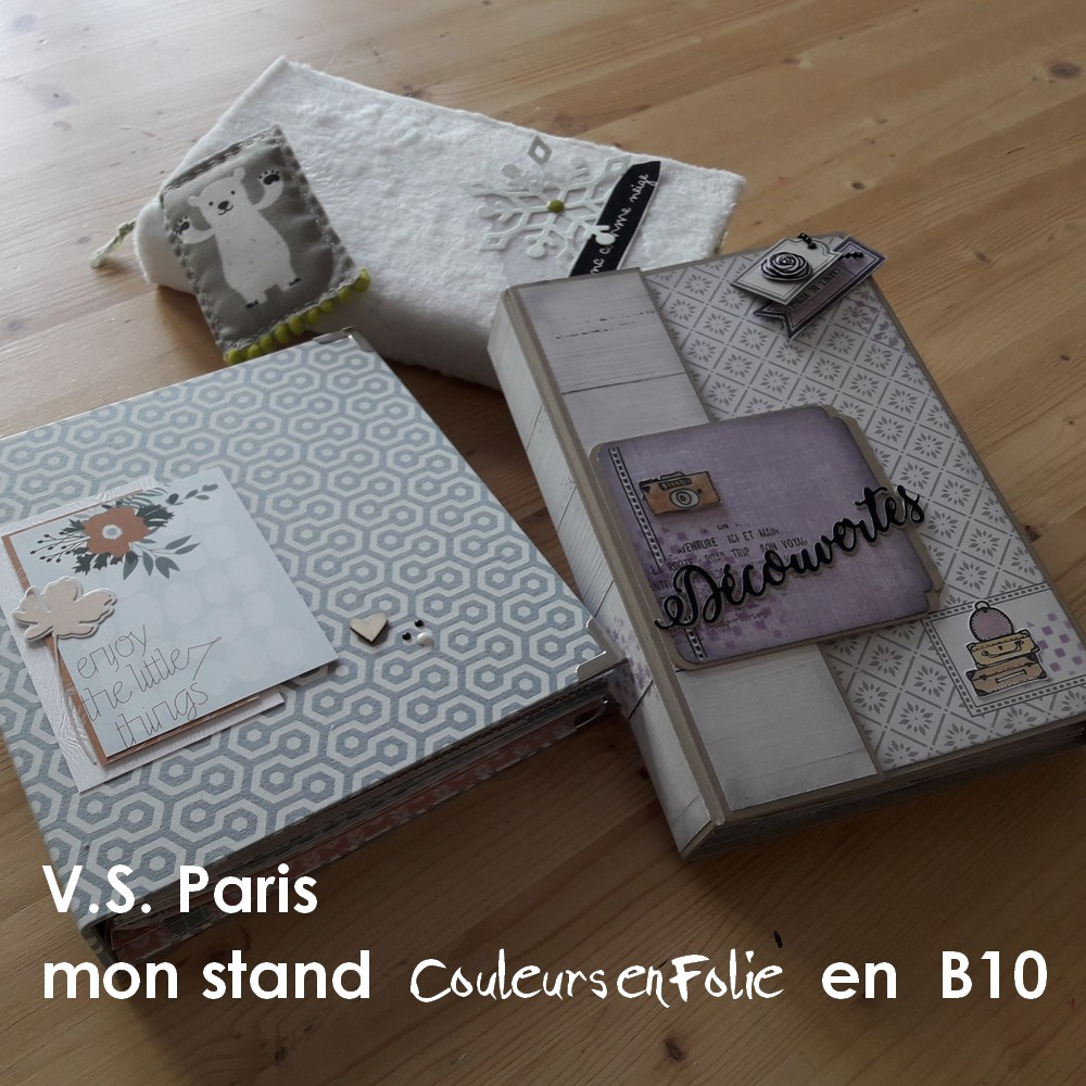 Salon Version Scrap Paris 2017 VS fête ses 10 ans les-kits-de-couleurs-en-folie Couleurs-en-Folie kits mini-albums scrap scrapbooking du 20 au 22 avril 2017 parc floral de Vincennes