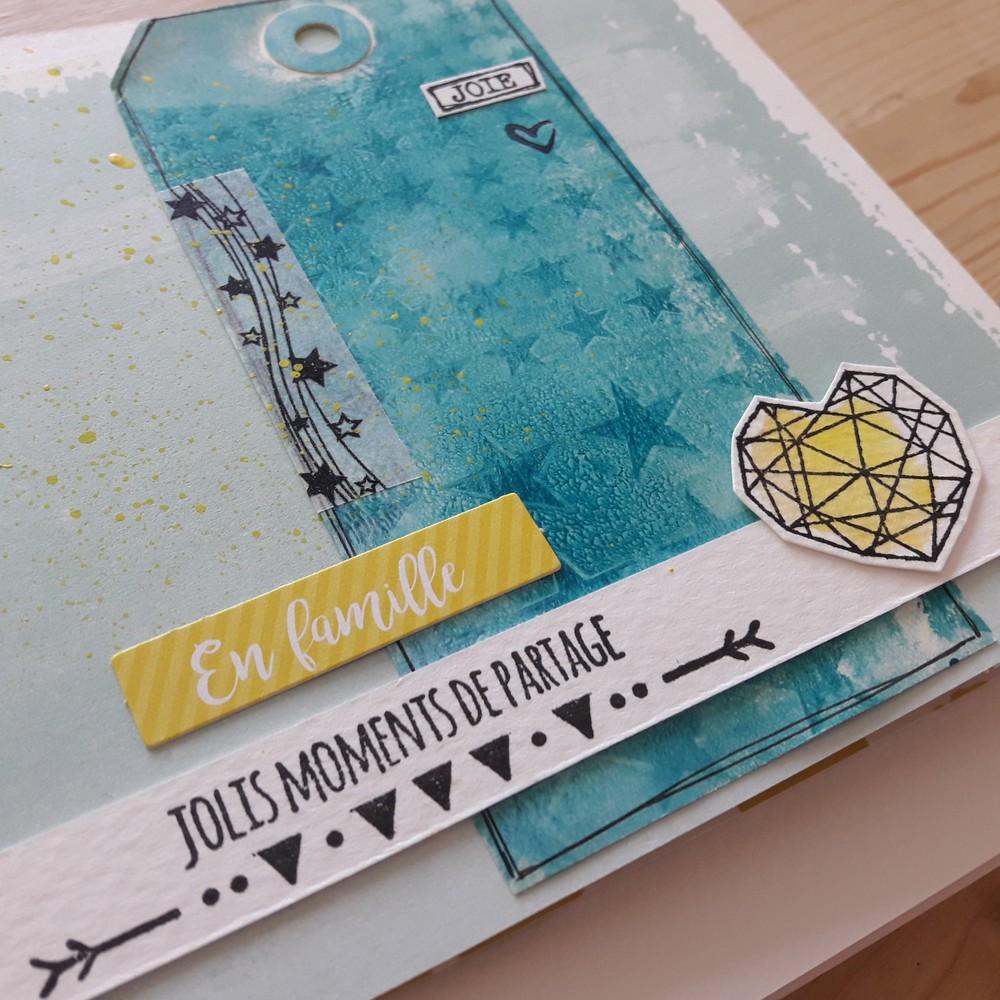 kit mini-album Remember couleurs-en-folie mini-album scrap scrapbooking fêtes anniversaire famille amis gelli-plate peinture tampons les-kits-de-couleurs-en-folie