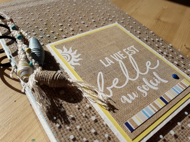 kit mini-album la vie est belle au soleil scrap scrapbooking kit les-kits-de-couleurs-en-folie atelier stage marcq-en-baroeul lille pour-débutant vacances album photos