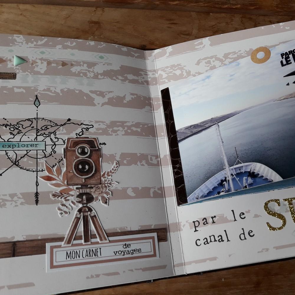 Kit mini-album Bon Vent kit scrap scrapbooking mini-album couleurs-en-folie carnet-de-voyage road-book voyages vacances photos tampons isabelle-lafolie