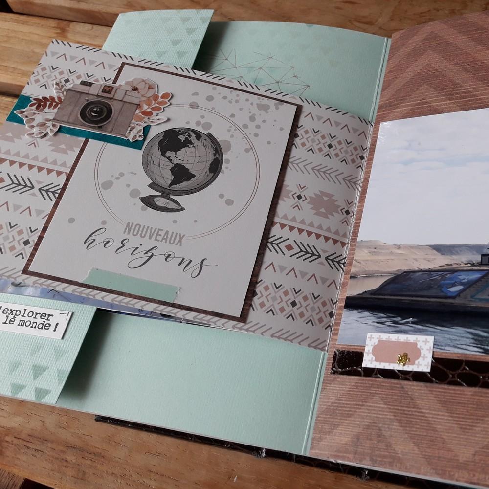 Top Tutoriel mini-album Bon Vent pour vos photos de voyage RK45