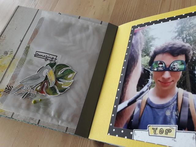 Kit mini-album Be Happy Couleurs en Folie kit scrap scrapbooking les-kits-de-couleurs-en-folie les-ateliers-de-couleurs-en-folie photos vacances tampons brushos pochoirs Lille Isabelle Lafolie