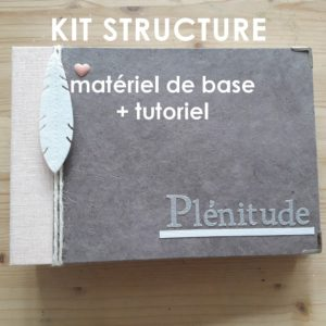 Kit structure Plénitude rose et kraft mini-album mini-classeur album photo mini-albums kits Couleurs en Folie scrap scrapbooking tuto tutoriel