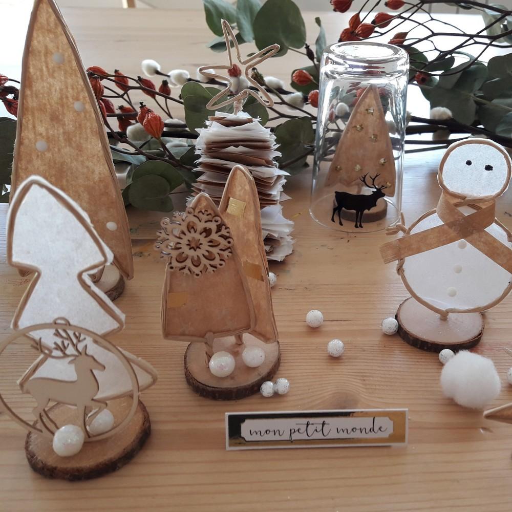 Kit d cor de l 39 hiver et carterie cartes de voeux d cor for Decoration hiver