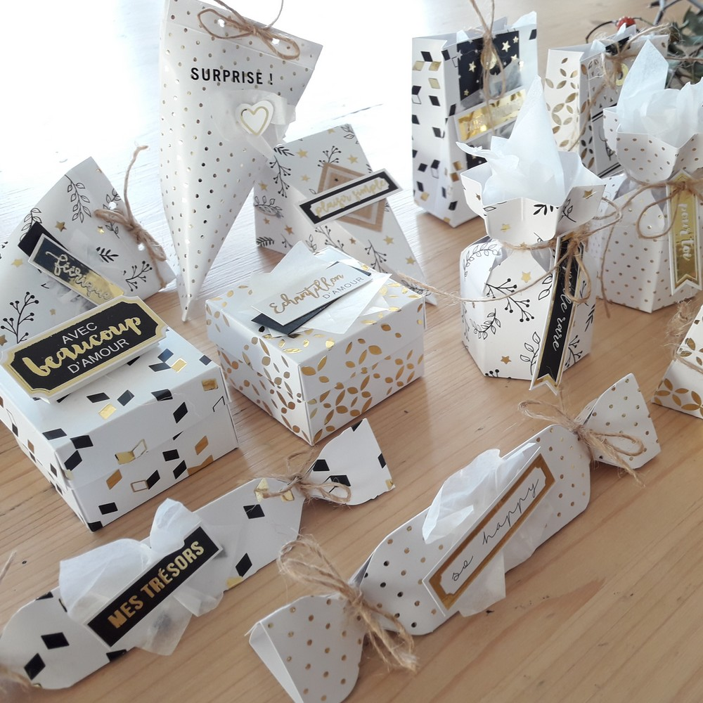 Kit Décor de table et carterie kit couleurs-en-folie décor de table cartes de voeux déco décoration hiver home-deco papier doré fêtes