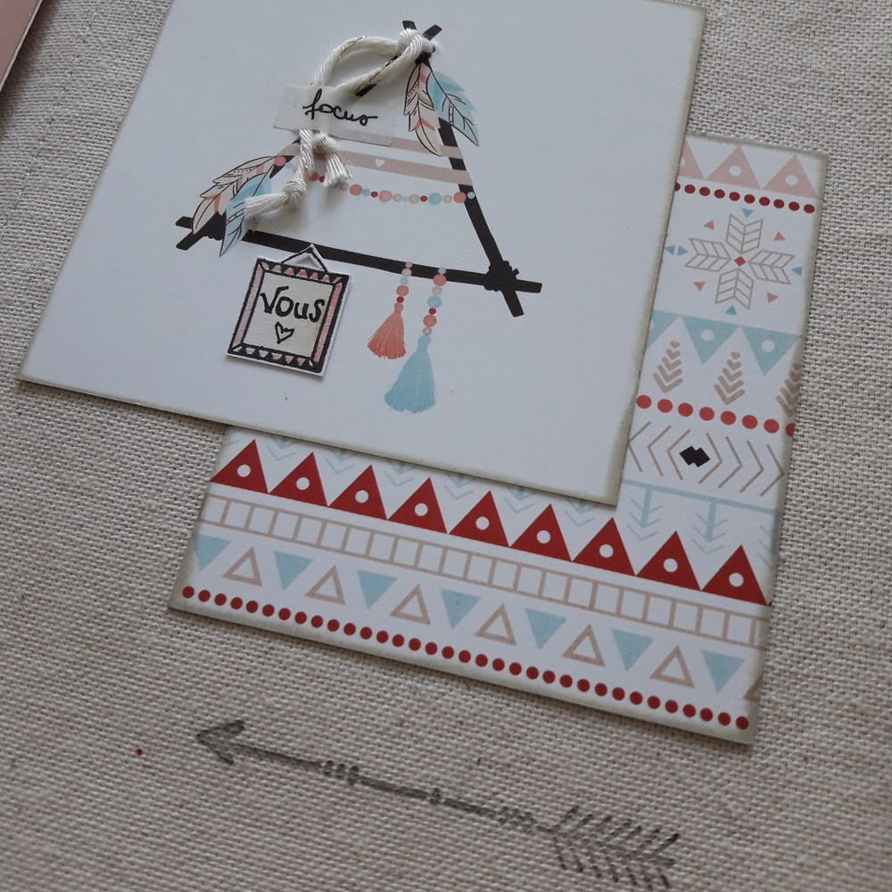 Tutoriel mini-album Heureux ensemble scrap scrapbooking les-kits-de-couleurs-en-folie ateliers encres tampons photos-de-famille or dorure lille marcq-en-baroeul