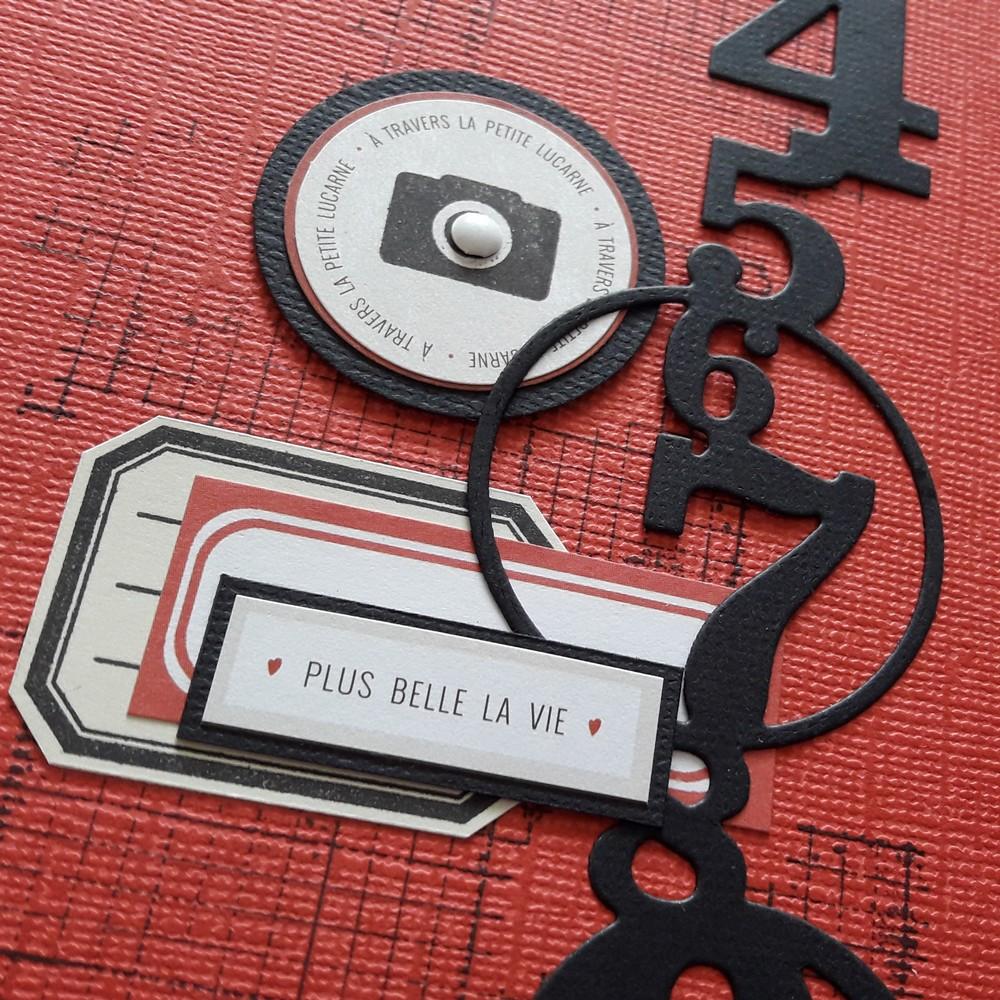 Kit mini-album Art urbain couleurs-en-folie scrap scrapbooking kit mini-album photos métal encre-de-chine isabelle-lafolie lille similicuir street-art ados visites musée art garçon