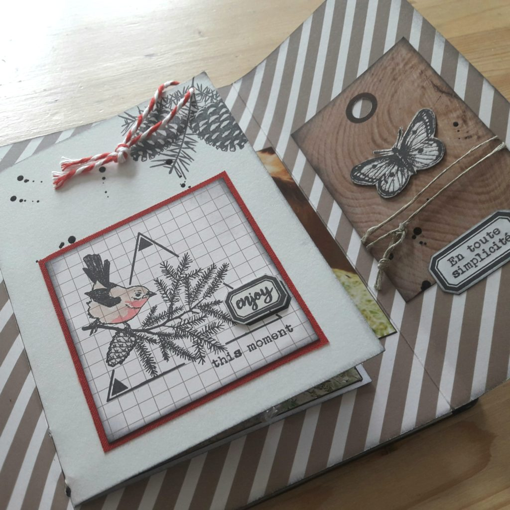 Tutoriel mini-album Meilleurs Moments couleurs-en-folie tuto tutoriel tampons tampon stamp-addict mini-album scrapbook les-kits-de-couleurs-en-folie marcq-en-baroeul france scrap scrapbooking