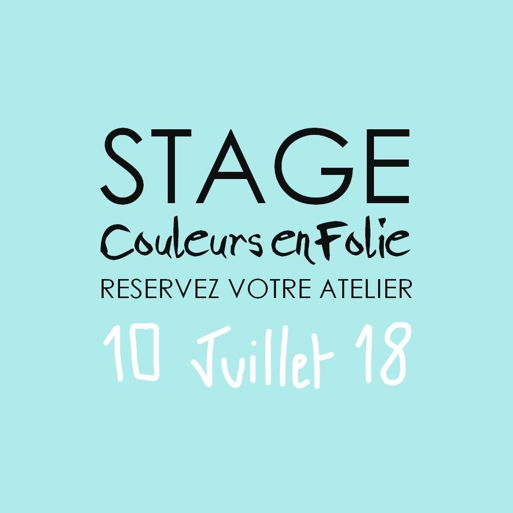 Stage vacances le 10 juillet 2018 atelier scrap scrapbooking home-deco couleurs-en-folie isabelle-lafolie lille marcq-en-baroeul stage vacances été 2018 diy