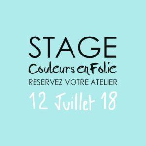 Stage vacances le 12 juillet 2018 atelier scrap scrapbooking home-deco couleurs-en-folie isabelle-lafolie lille marcq-en-baroeul stage vacances été 2018 diy