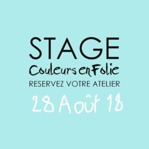 Stage vacances le 28 août 2018 atelier scrap scrapbooking home-deco couleurs-en-folie isabelle-lafolie lille marcq-en-baroeul stage vacances été 2018 diy