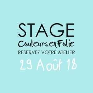 Stage vacances le 29 août 2018 atelier scrap scrapbooking home-deco couleurs-en-folie isabelle-lafolie lille marcq-en-baroeul stage vacances été 2018 diy