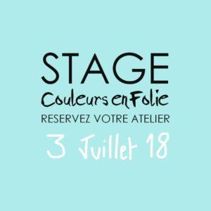 Stage vacances le 3 juillet 2018 atelier scrap scrapbooking home-deco couleurs-en-folie isabelle-lafolie lille marcq-en-baroeul stage vacances été 2018 diy