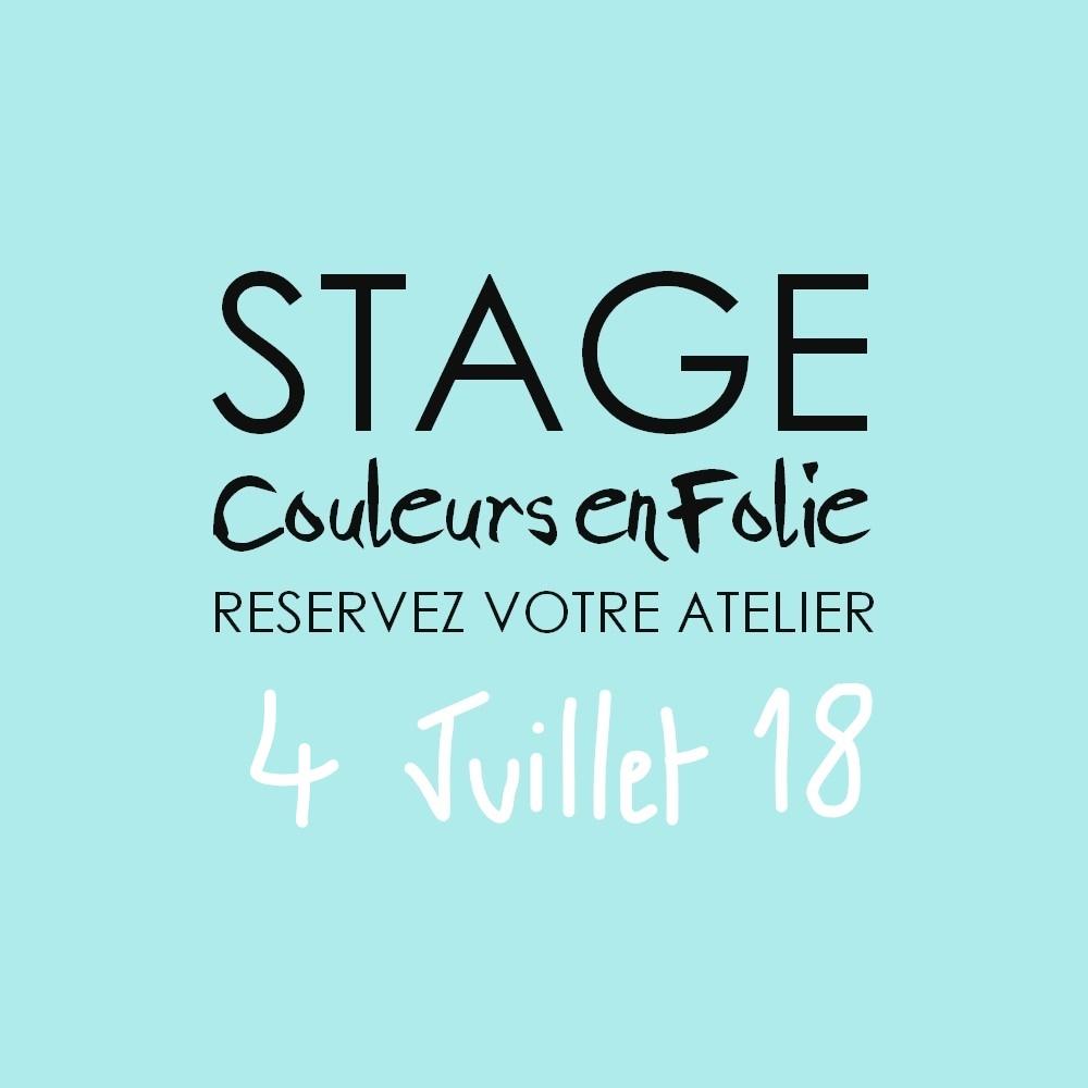 Stage vacances le 4 juillet 2018 atelier scrap scrapbooking home-deco couleurs-en-folie isabelle-lafolie lille marcq-en-baroeul stage vacances été 2018 diy