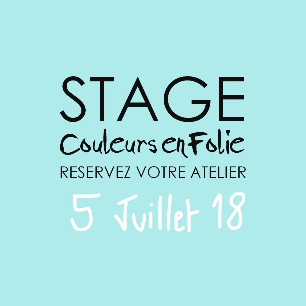 Stage vacances le 5 juillet 2018 atelier scrap scrapbooking home-deco couleurs-en-folie isabelle-lafolie lille marcq-en-baroeul stage vacances été 2018 diy